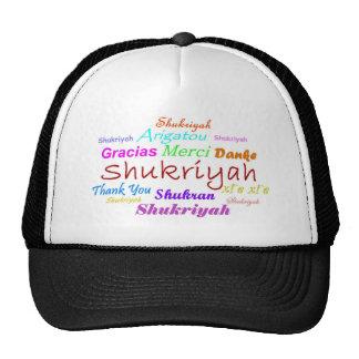 Thank You hat in 8 languages-Shukriyah-Hindi