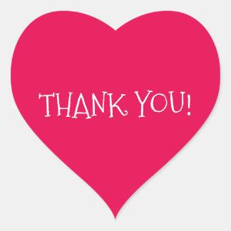 Thank You Heart-Shaped Sticker