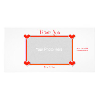 Thank You Hearts 4 You Custom Photo Card