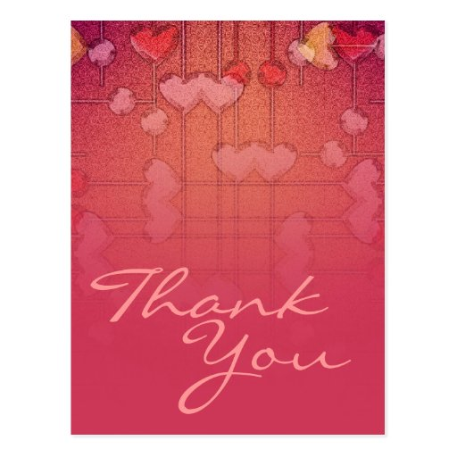 Thank You Hearts Postcard