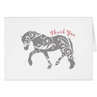 Thank you Horse Swirls Card