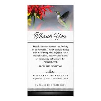Thank You Hummingbird Words Cannot Express Photo Cards