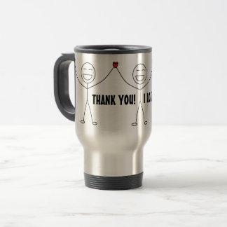 THANK YOU I LOVE YOU Gratitude Travel Mug