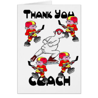 Thank you Ice Hockey Coach Card