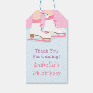 Thank You Ice Skating Birthday Party Gift Tags