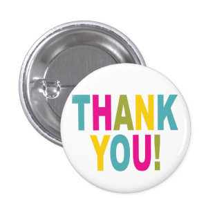 Thank You in bright colors 3 Cm Round Badge