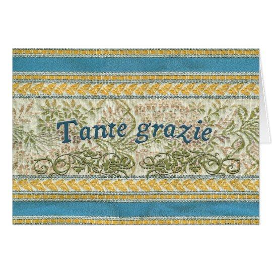Thank You in Italian, Tante Grazie Card