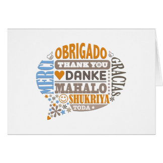 Thank You in many Languages Greeting Card