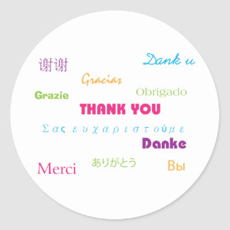 Thank You in Many Languages Sticker