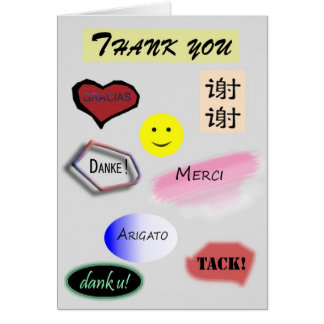 Thank you in multiple languages card