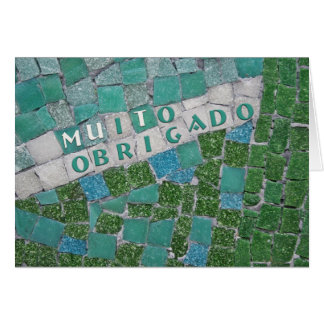 Thank You in Portuguese, from Male Card