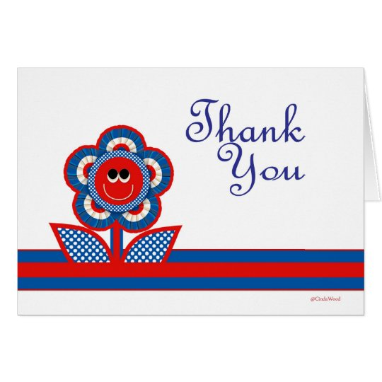Thank You in Red, White & Blue Card