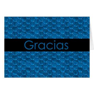 Thank You in Spanish Gracias Greeting Card