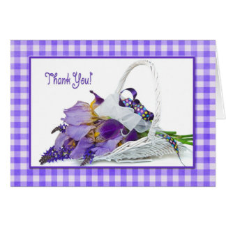 Thank You Iris bouquet Greeting Card