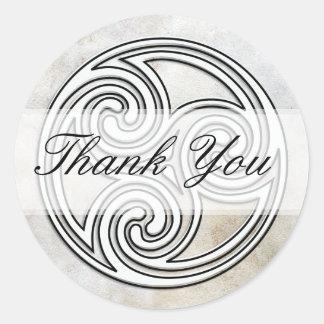 Thank You Irish Celtic Knot Invitation Seals Round Sticker