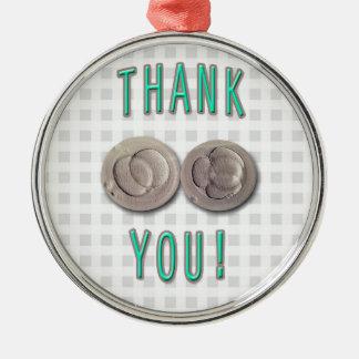 thank you ivf invitro fertilization embryos metal ornament
