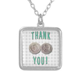 thank you ivf invitro fertilization embryos silver plated necklace