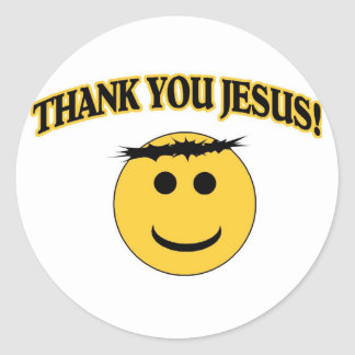 Thank You Jesus Classic Round Sticker