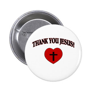 Thank You Jesus (Heart) Pinback Buttons