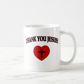 Thank You Jesus (Heart) Basic White Mug