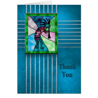 Thank You - Kokopelli - American Indian Collection Card
