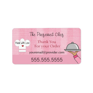 Thank You Label with Business Information Address Label