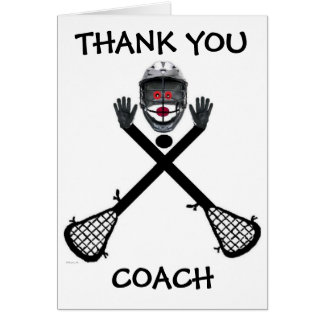 Thank You Lacrosse Coach Greeting Card