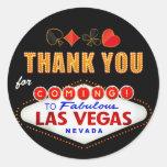 Thank You - Las Vegas Sign Fabulous Casino Night Round Sticker