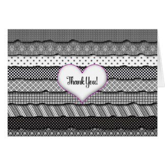 Thank You - Layers of Ruffles and Heart Card