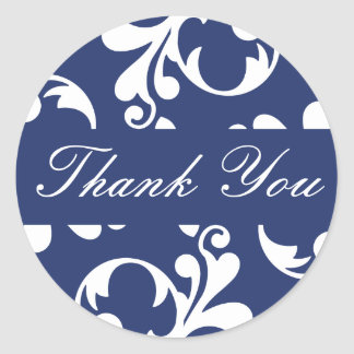 Thank You Leaf Flourish Envelope Sticker Seal