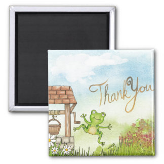 Thank You Leap Frog Square Magnet