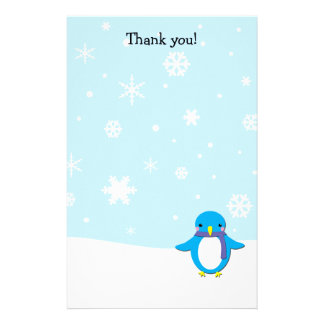Thank you letters Penguin Christmas stationary Personalized Stationery