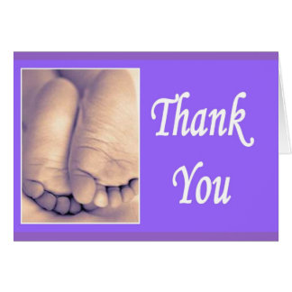 Thank you little baby feet greeting card