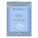 Thank You Little Prince Baby Shower Boy Blue 2
