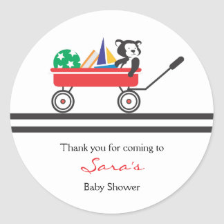 Thank you |  Little Red Wagon Baby Shower Sticker