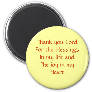 thank you lord 6 cm round magnet