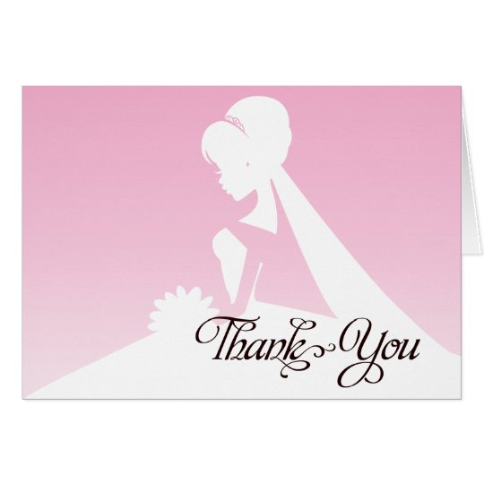 Thank you Maid of Honour Pretty Pink Wedding Card