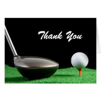 Thank You Man Golf Birthday Card