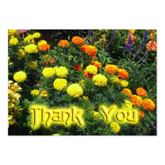 "Thank You Marigolds 5"" X 7"" Invitation Card"