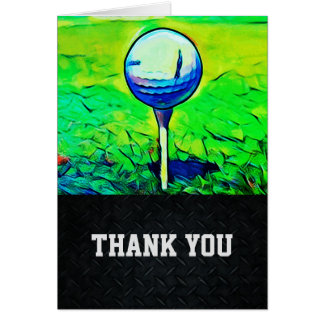 Thank You Men's Golfing Note Card