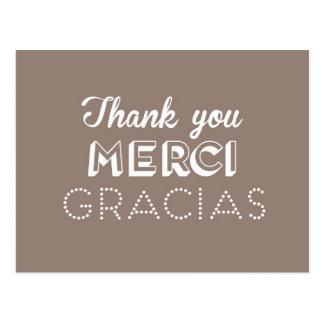 Thank you - Merci - Gracias Postcard