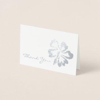 Thank You Metallic Tropical Island Hibiscus Flower Foil Card