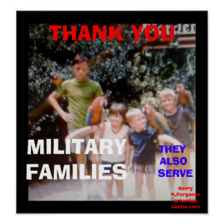 THANK YOU MILITARY FAMILIES PRINT