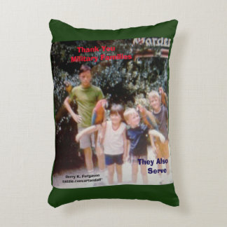 THANK YOU  MILITARY FAMILIES THROW PILLOW