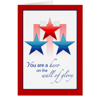 Thank You Military Service Patriotic Wall of Glory Card