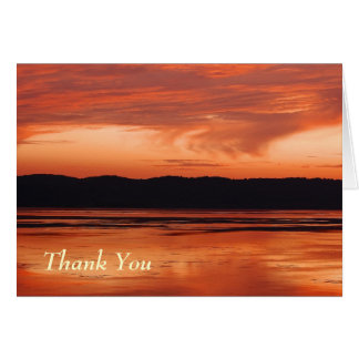 Thank You -Mississippi River Sunset Card