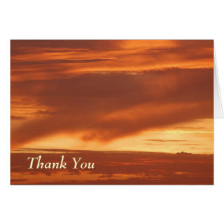 Thank You -Mississippi River Sunset Greeting Card