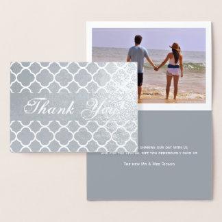 Thank You Modern Moroccan Pattern Foil Card