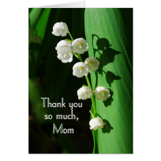 Thank You, Mom, Lily of the Valley Greeting Card