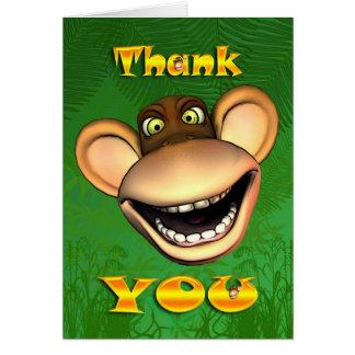 Thank you monkey face, happy jolly card